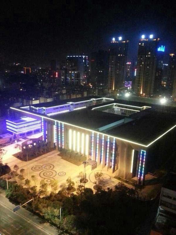 昆明工人文化宮 ライトアップ